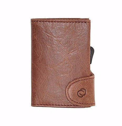 C-Secure RFIDSafe Italian Leather Wallet - Brown