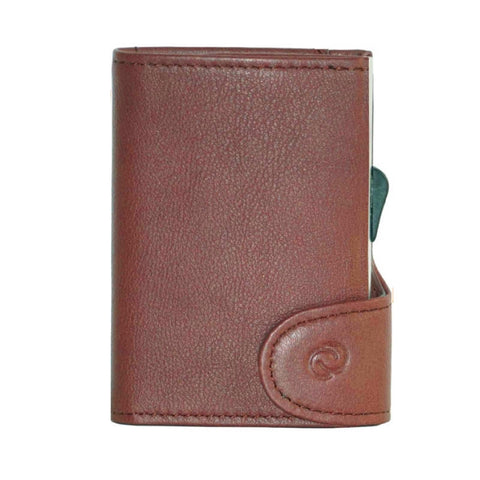 C-Secure RFIDSafe Italian Leather Wallet - Bruciato