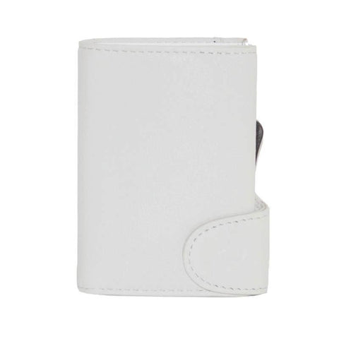 C-Secure RFIDSafe Italian Leather Wallet - Bianco Ottico
