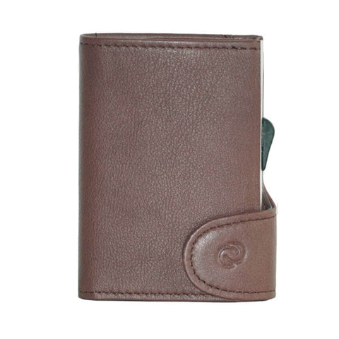 C-Secure RFIDSafe Italian Leather Wallet - Bordo