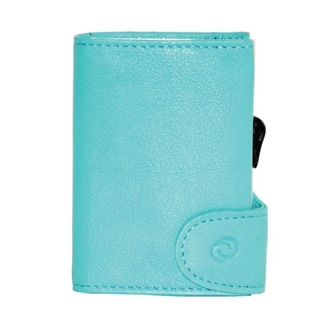 C-Secure RFIDSafe Italian Leather Wallet - Caraibi