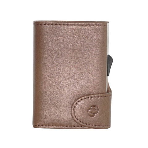 C-Secure RFIDSafe Italian Leather Wallet - Castagno