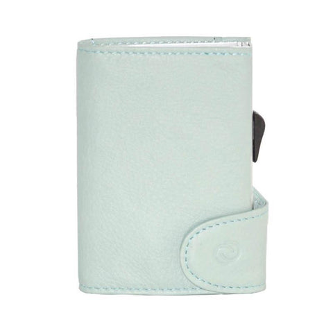 C-Secure RFIDSafe Italian Leather Wallet - Cielo