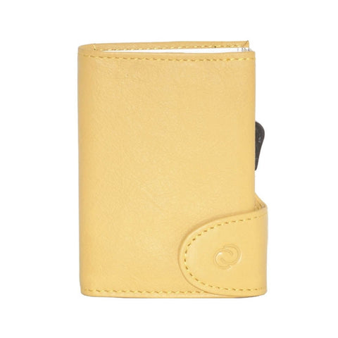 C-Secure RFIDSafe Italian Leather Wallet - Giallo Sole