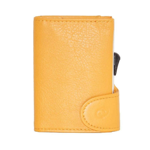 C-Secure RFIDSafe Italian Leather Wallet - Girasole