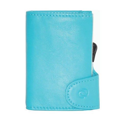 C-Secure RFIDSafe Italian Leather Wallet - Zaffiro