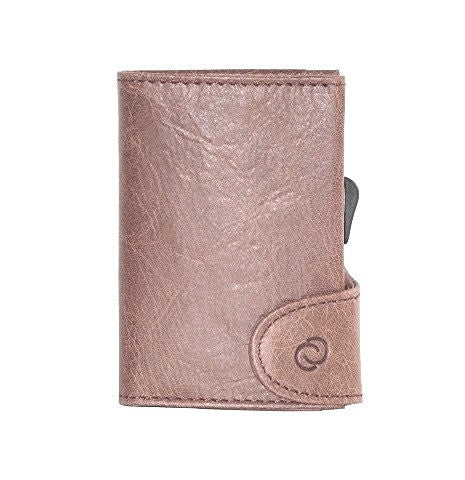 C-Secure RFIDSafe Italian Leather Wallet - Cobblestone