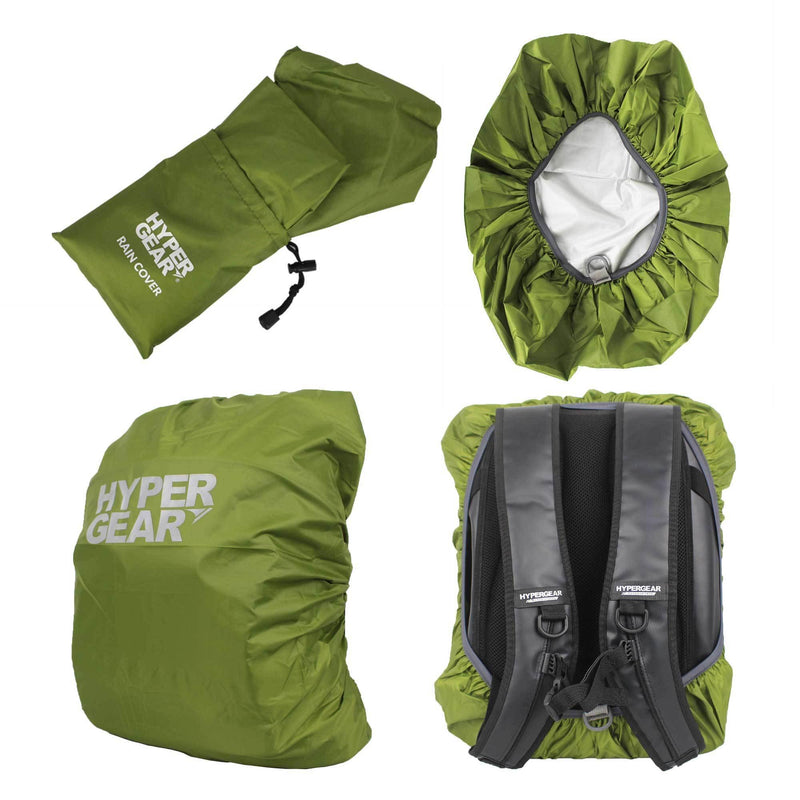 Hypergear Rain Cover for Dry Bags & Backpacks - Green - Oribags.com