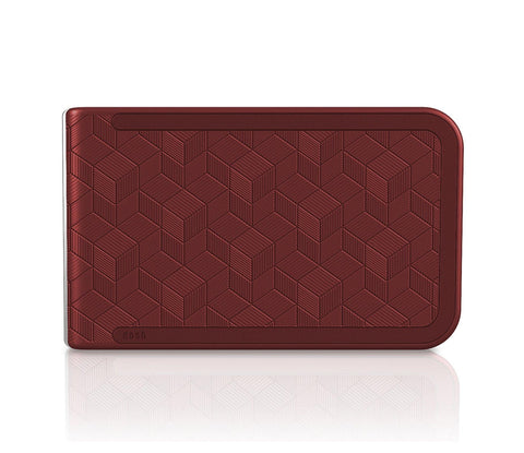 Dosh LUXE EMBOSSED Wallet - Red Cubic