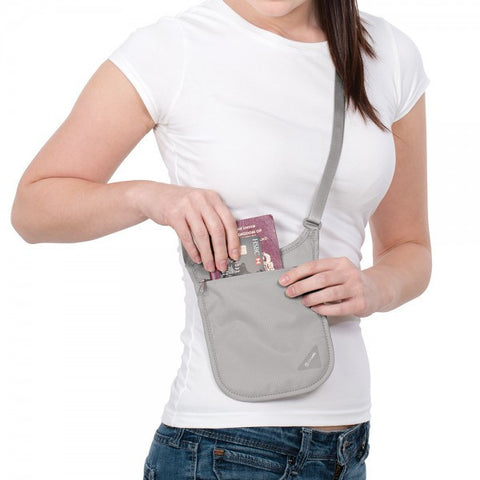 Pacsafe Coversafe V75 RFID Blocking Neck Pouch - Grey - oribags2 - 1