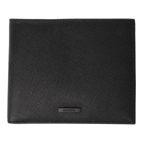 Crossing Saffiano Bi-Fold Wallet - Black
