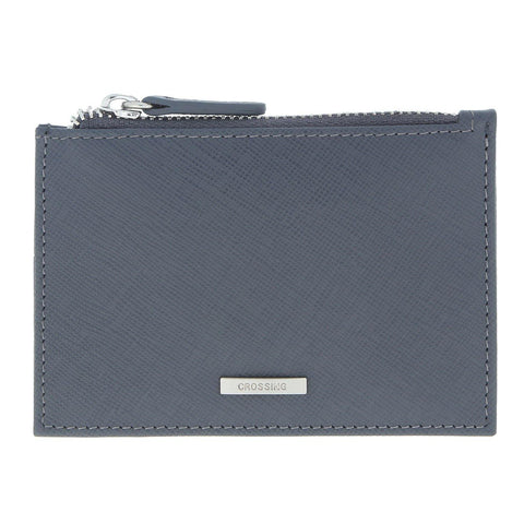 Crossing Card Case With Zip Pocket – Charcoal
