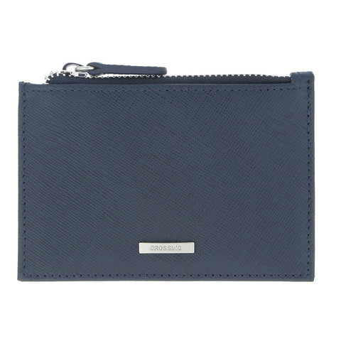 Crossing Card Case With Zip Pocket – Dress Blue