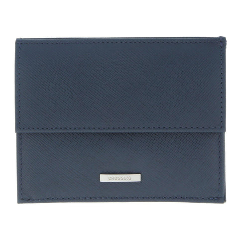 Crossing Coin Pouch With Card Case – Dress Blue