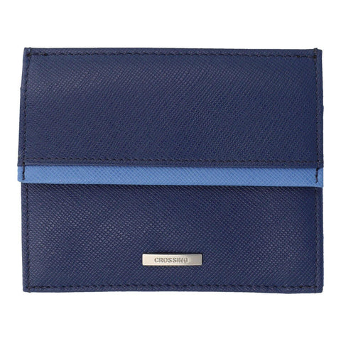 Crossing Modish Coin Pouch With Card Case - Blue