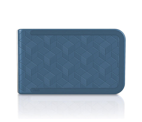 Dosh LUXE EMBOSSED Wallet - Blue Cubic