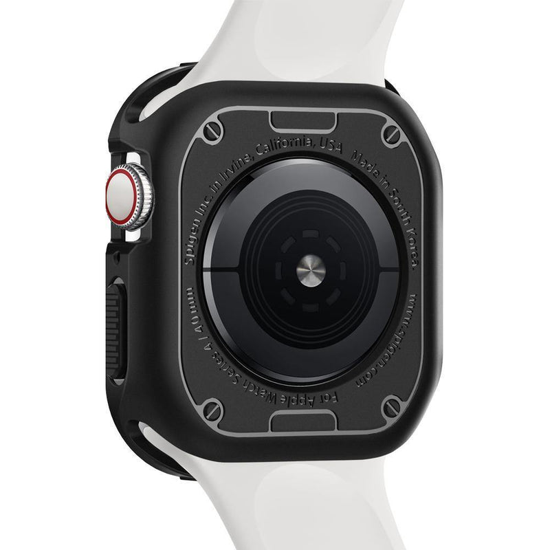 Spigen Apple Watch Series 4 (44mm) Case Rugged Armor Protector Case - Black - Oribags.com