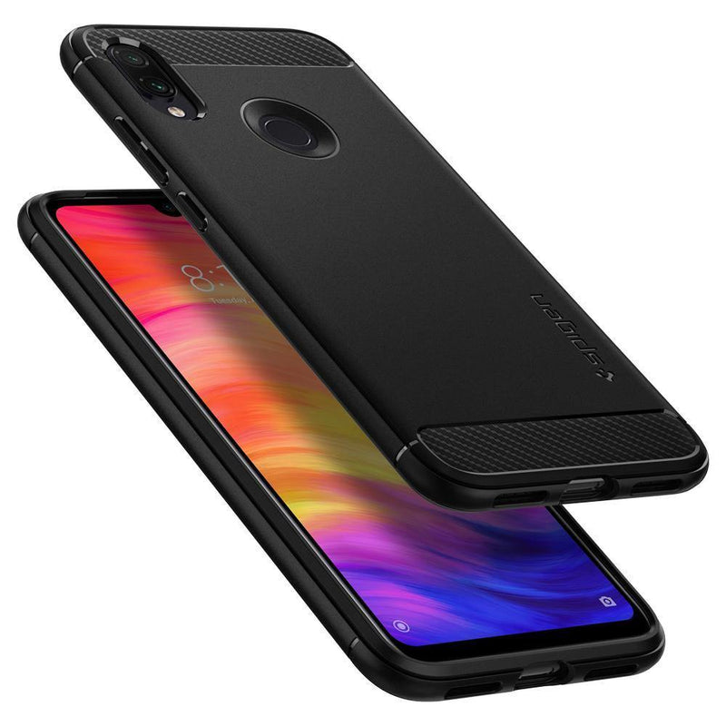 Spigen Xiaomi Redmi Note 7 Pro / Note 7 Case Rugged Armor - Black - Oribags.com