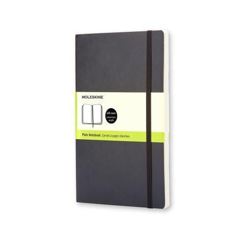 (Clearance) Moleskine Classic Notebook Journal (Soft Cover) - Pocket Size / Black / Plain