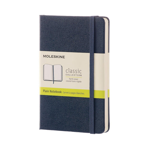 Moleskine Classic Notebook Journal (Hard Cover) - Pocket Size / Sapphire Blue / Plain