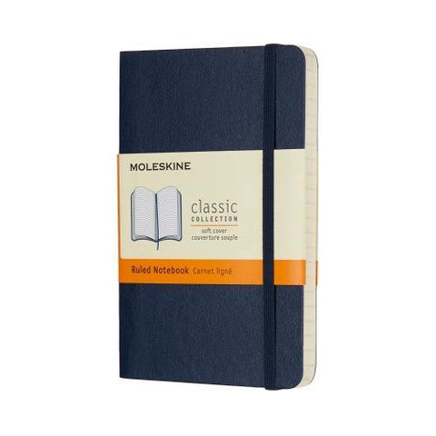 Moleskine Classic Notebook Journal (Soft Cover) - Pocket Size / Sapphire Blue / Ruled