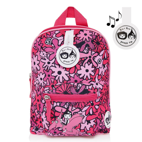 Babymel Mini Backpack & Safety Harness / Reins Age 1-4 Years - Floral Pink