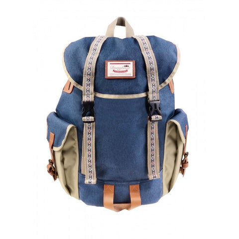 (Clearance) Doughnut Woodland Small Bo-He Backpack - Navy X Beige