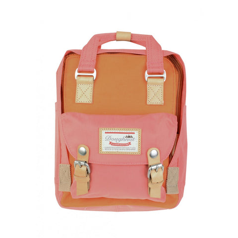 Doughnut Macaroon Mini Backpack - Orange X Peach