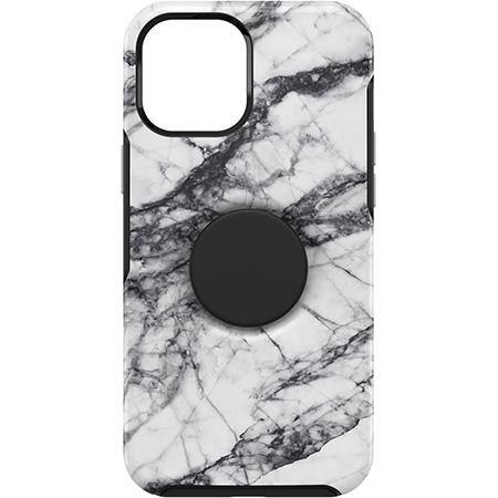Otterbox iPhone 12 Pro Max Otter + Pop Symmetry Series Case - White Marble Graphic