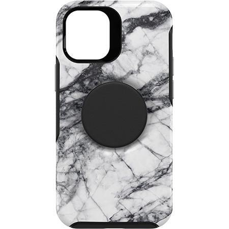 Otterbox iPhone 12 mini Otter + Pop Symmetry Series Case white marble - White Marble Graphic