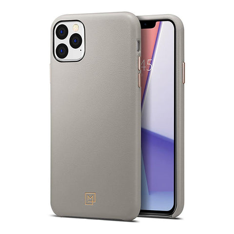 SPIGEN iPhone 11 Pro Max Case La Manon Câlin (Premium Leather) - Oatmeal Beige