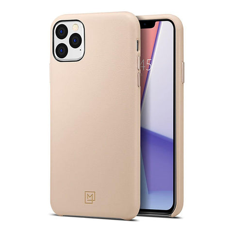SPIGEN iPhone 11 Pro Max Case La Manon Câlin (Premium Leather) - Pale Pink