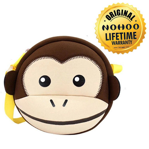 Nohoo Kids Sling Bag Ape Design - Brown