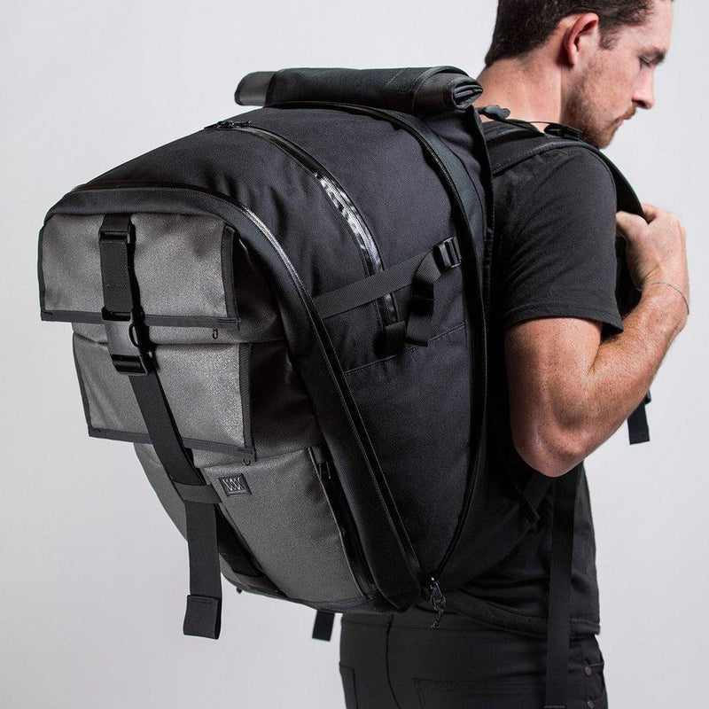 Mission Workshop The Vandal 29L to 65L Expandable Cargo Pack - Static Gray - Oribags.com