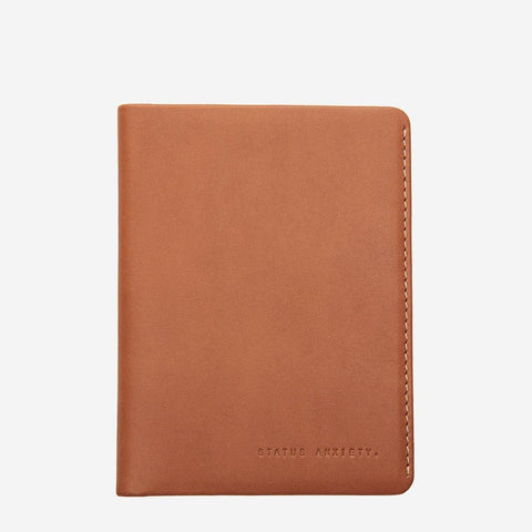 Status Anxiety Men Leather Wallet Conquest - Camel
