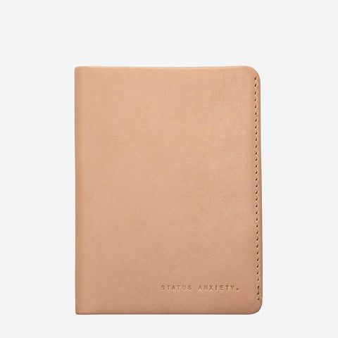 Status Anxiety Men Leather Wallet Conquest - Tan
