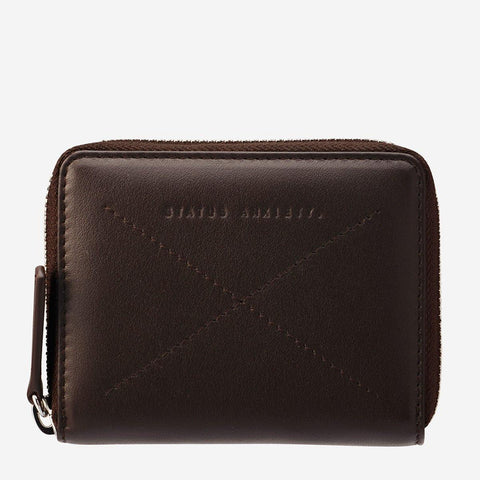 Status Anxiety Men Leather Wallet Darius - Chocolate