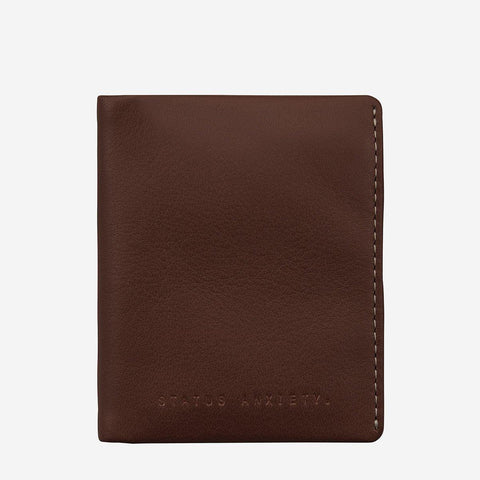 Status Anxiety Men Leather Wallet Edwin - Chocolate