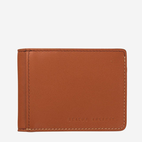 Status Anxiety Men Leather Wallet Ethan - Camel