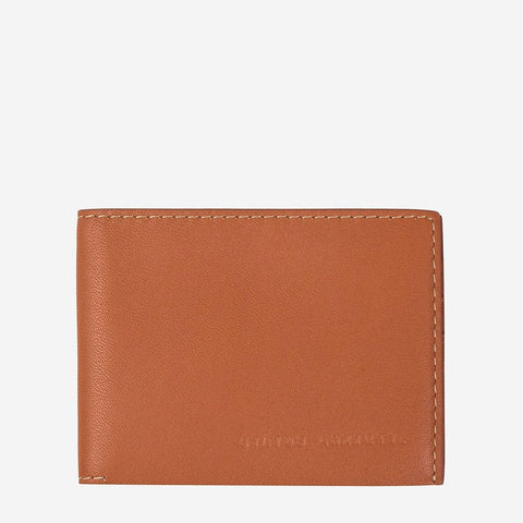 Status Anxiety Men Leather Wallet Felix - Camel