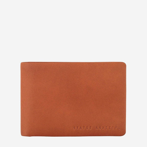 Status Anxiety Men Leather Wallet Jonah - Camel