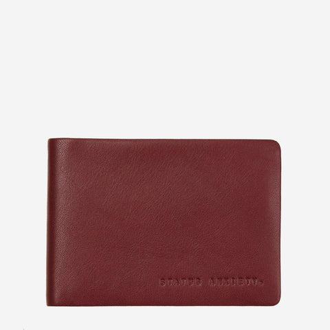 Status Anxiety Men Leather Wallet Jonah - Cognac