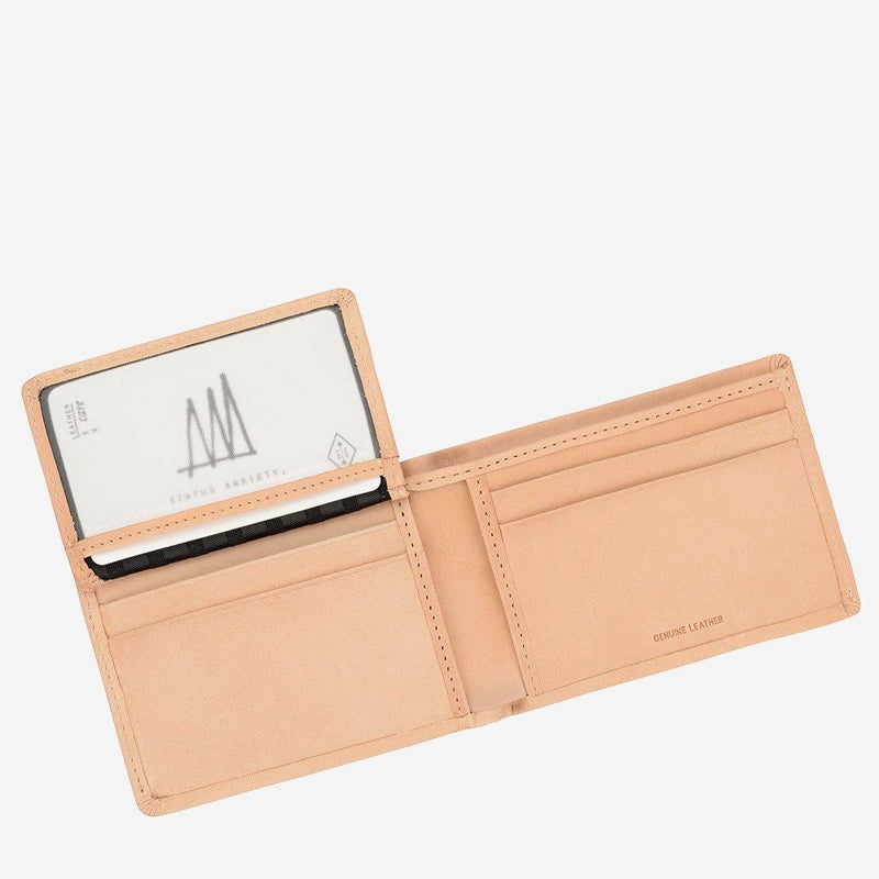(Promo) Status Anxiety Men Leather Wallet Jonah - Tan - Oribags.com