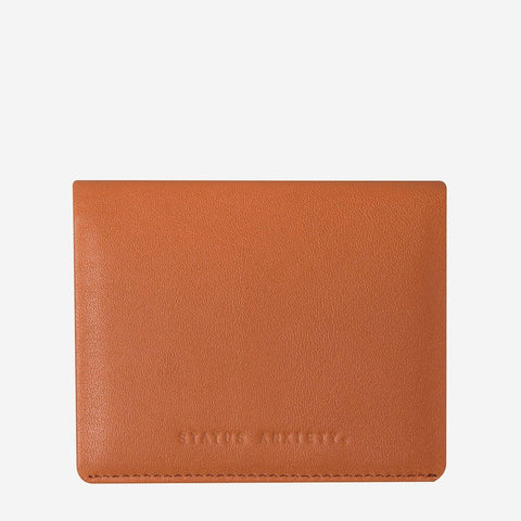 Status Anxiety Men Leather Wallet Lennen - Camel