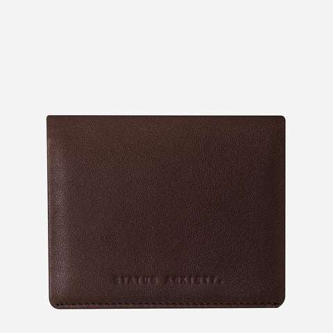 Status Anxiety Men Leather Wallet Lennen - Chocolate