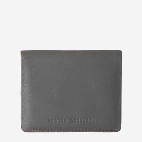 Status Anxiety Men Leather Wallet Lennen - Slate