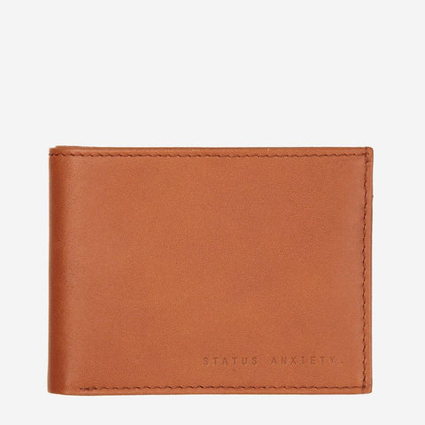 Status Anxiety Men Leather Wallet Noah - Camel