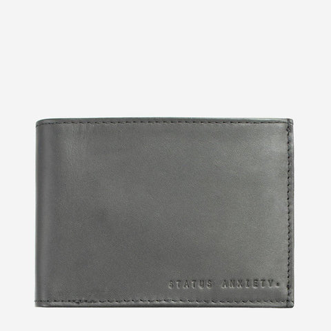 Status Anxiety Men Leather Wallet Noah - Slate