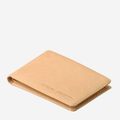 Status Anxiety Men Leather Wallet Otis - Tan
