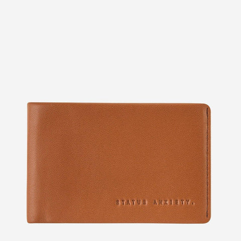 Status Anxiety Men Leather Wallet Quinton - Camel